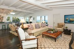 Mobile Home for sale Paradise Cove Malibu. This is the Living area of a $4 million mobile home! Can you see the views of Pacific through the windows?