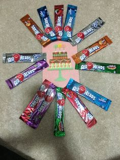 I received a free sample of airheads candy from Smiley360 for my honest opinion. I really enjoyed using some of the airheads to decorate my nieces birthday card. I hot glued the airheads to the front of her card. When she opened the package she was so surprised and loved it. Brought a smile to her and my faces. #AirheadsCrafts! #FreeSamp