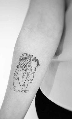 Mama Tattoo, Mommy Tattoos, Mother Tattoos, Pin Up Tattoos, Body Art Tattoos, Small Tattoos, Tatoos, Mom Daughter Tattoos, Tattoos For Daughters