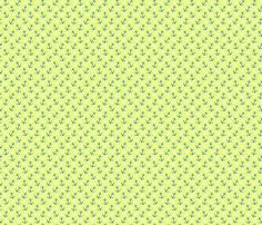 Anchors Away Chartreuse fabric by littlerhodydesign on Spoonflower - custom fabric
