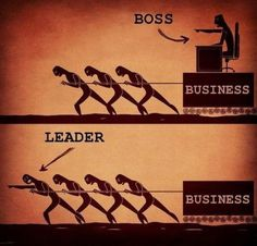 There is a great difference between a boss and a leader !
