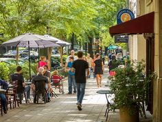 Greenville, SC! Only a few years ago, cities were declaring their downtowns dead, but some shopping districts have come back big time.