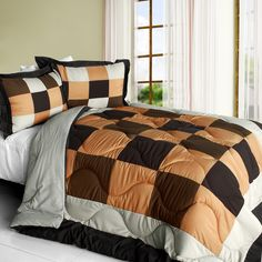 [Blinking Danae] Quilted Patchwork Down Alternative Comforter Set (Full/Queen Size)
