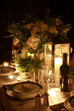 candles and flowers ... so lovely