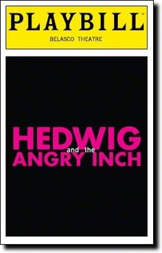 Brand New Color Playbill from Hedwig and the Angry Inch at Belasco Theatre starring John Cameron Mitchell Lena Hall Music and Lyrics by Stephen Trask Book by John Cameron Mitchell **, 2016 Amazon Top Rated Playbills  #Collectibles