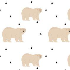 Polar Bear fabric by >>mintpeony<< on Spoonflower - custom fabric
