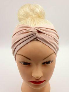 Velo Fascia per capelli fatti a mano Testa Sciarpa Multi BAND BIANCO o Classic Tan Brown