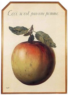 This is Not an Apple, 1964, Rene Magritte