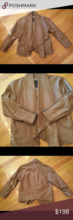 New French Connection FCUK drape leather jacket New French Connection FCUK drape leather jacket. Really love this jacket and love the color. Selling because I have too many leather jackets. New without tag, never worn. Drapes nicely. Pocket on each side. French Connection Jackets & Coats