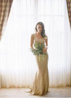 20 gold wedding dresses