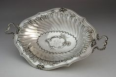 Large silverd Dish, Paris
