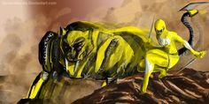Yellow Power Ranger Fan Art by goldenmurals.deviantart.com on @deviantART