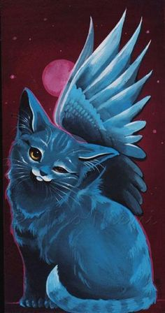 Blue Kitten by Artist Nico Niemi
