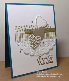 Cattail Designs: Pals Paper Arts 186 -  golden washi tape - Hearts a Flutter stamp set and Delightful Dozen (valentine stamp).
