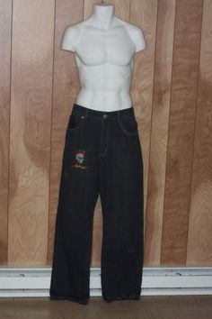 MEN'S ED HARDY DENIM JEANS-SIZE: 34 X 34 #EDHARDY #Relaxed