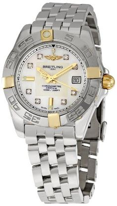 Breitling Women`s BTB71356L2-A710SS Galactic 32 Mother-Of-Pearl Dial Watch $3,527.47