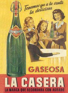 La Casera is a traditional Spanish brand of soda in Spain. Éphémères Vintage, Vintage Labels, Vintage Prints, Vintage Food, Old Posters, Travel Posters, Vintage Advertising Posters, Vintage Advertisements, Old Ads
