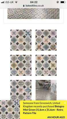 Retro Pattern, Tile Patterns, Floral Tie, Green