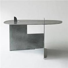 Isamu Noguchi Pierced Table Gemini G.E.L. USA, 1982-83 galvanized steel 39.5 w x 37 d x 22 h inches In 1982, Noguchi collaborated with Gemini G.E.L. in Los Angeles to create a series of galvanized steel sculptures