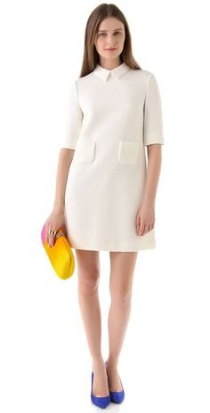 White Mod shift dress!