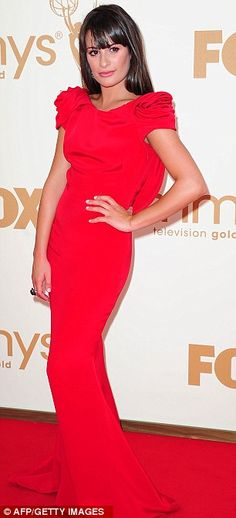 Emmy Awards 2011: Lea Michele and Kate Winslet wear red hot dresses | Mail Online