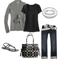 love grey and black--classic