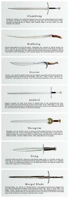 Lord of The Rings weapons Legolas, Thranduil, Gandalf, Hobbit Tolkien, O Hobbit, Elfa, Knives And Swords, Lotr Swords, Fantasy Weapons