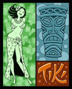 The Tiki Art of Anthony Carpenter-Art show poster P.12 -- Tiki Central