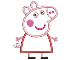 Peppa Pig Embroidery Design Peppa Pig Applique