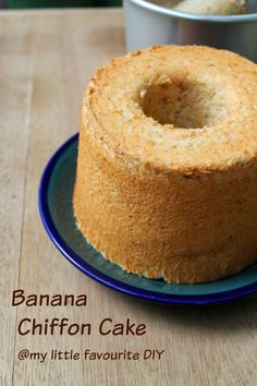 my little favourite DIY: Banana Chiffon Cake ~香蕉戚风蛋糕