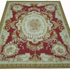 Handmade French Aubusson Design Roses Wool Needlepoint Area Rug Made to Order - http://home-garden.goshoppins.com/rugs-carpets/handmade-french-aubusson-design-roses-wool-needlepoint-area-rug-made-to-order/