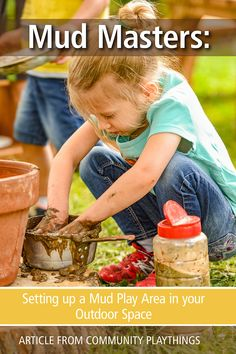 This article describes how to support children in mud play activities, how to set up a mud kitchen and mud provocations for learning, and how to make the learning visible. Read about it here. Outdoor Learning Spaces, Mud Kitchen, Learning Activities, Play, Children, Food, Young Children, Boys, Kids