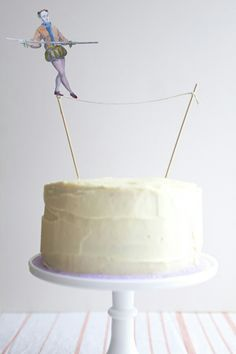 Tight rope cake topper