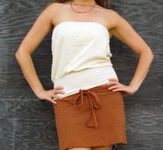 Floating Tube Top hemp/organic cotton by gaiaconceptions on Etsy, $55.00
