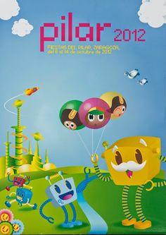 Cartel finalista del Pilar año 2012 Titulo:Espíritu Pixel