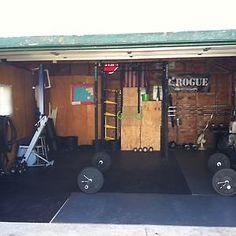 possible garage home gym setup  home gym  pinterest