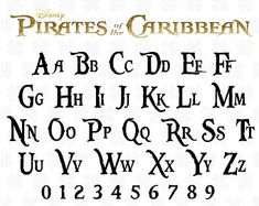 Pirates font svg Pirates of the Caribbean font svg Pirates caribbean alphabet letter svg Silhouette Word Fonts, Cursive Fonts, Word Style Font, Alphabet Disney, Pirate Font, Hand Lettering Alphabet, Alphabet Fonts, Image Pinterest, Silhouette Fonts