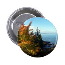 Island Colors, St Joseph Island, Ontario, Canada 2 Inch Round Button