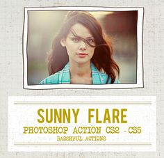Sunny Flare - Photoshop Action.   via Etsy.