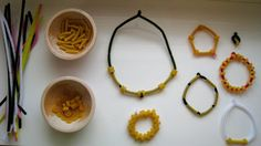 pasta indian necklaces | Jewelry Making Crafts for Kids : How to Make Jewelry Instructions