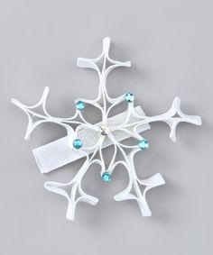 White Snowflake Clip