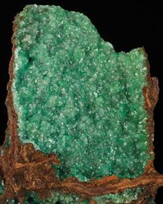 Cuprian Adamite on Limonite - Mexico