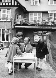 """Frank Sinatra, 46, and the father of three children, visited the Sunshine Home for Blind Children at Northwood, Middlesex yesterday on his world charity tour for handicapped children. He played with 24 sightless boys and girls and later said, """"These children are so happy. They are certainly a lesson to grown-ups who gripe about life."""""""