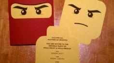 Festa   Aniversário Ninjago: Os convites ninja - Pac Mãe
