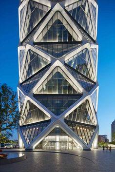 Решетчатая оболочка башни SOM в Пекине