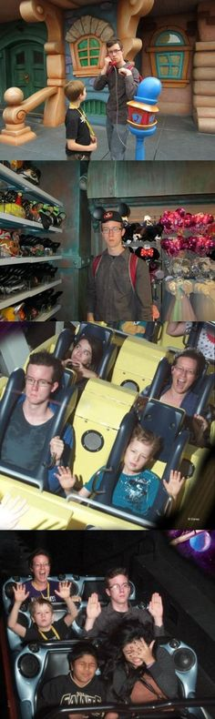 This is my dad in Disney World. Except he actually has fun. Just with this facial expression.