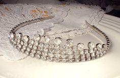 Vintage Downton Abbey Art Deco Rhinestone Bridal by AmoreTreasure