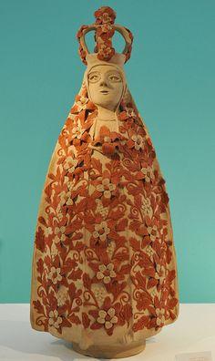 Virgen de la Soledad Angelica Gonzalez and Antonio Garcia Reyes are the ceramic artists who created this image of the Virgen de Soledad -- Patroness of Oaxaca. Museo de Culturas Populares, Mexico City.