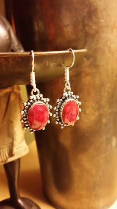 Check out this item in my Etsy shop https://www.etsy.com/listing/254232060/cherry-ruby-earrings-oval-indian-wedding