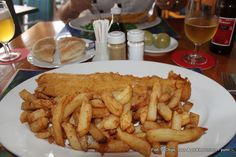 And there is nothing to beat good-old, English chip-shop fish 'n' chips when you're in the mood! Forget the cholesterol for just once & enjoy!